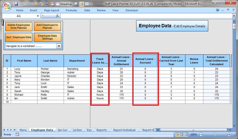 Leave Tracker Excel Template Beautiful the Staff Leave Calendar A Simple Excel Planner to Manage