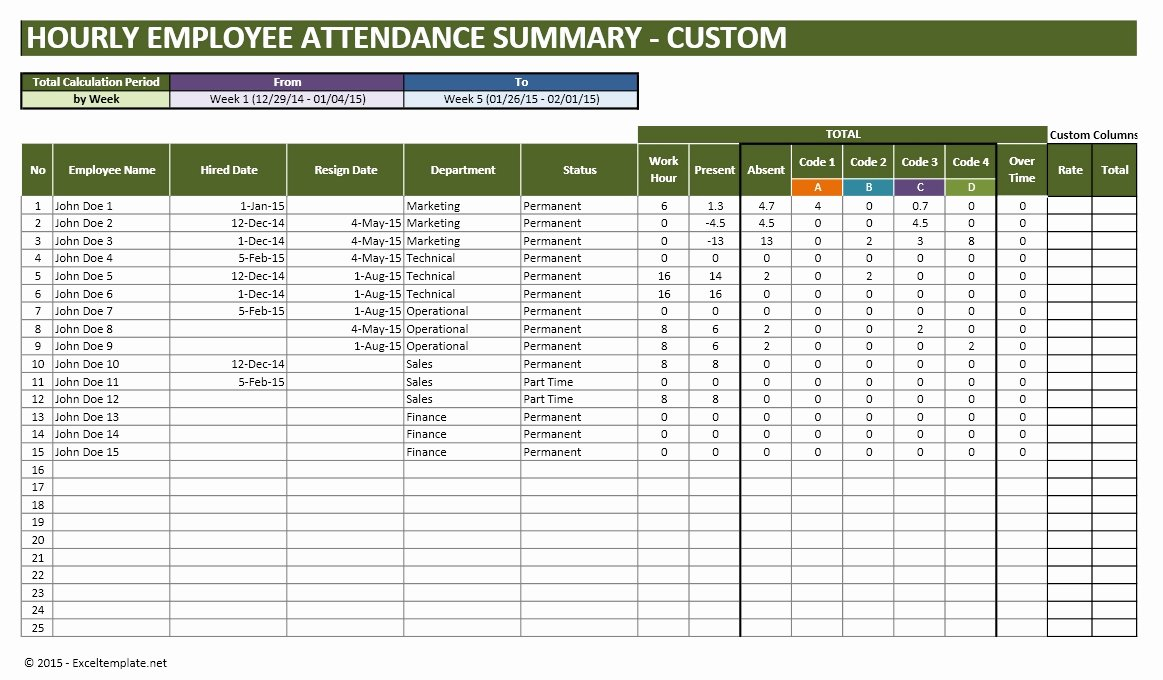 Leave Tracker Excel Template Best Of Employee Vacation Planner