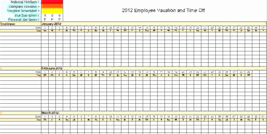 Leave Tracker Excel Template Elegant Vacation Planner Template Excel Free Tracker Employee