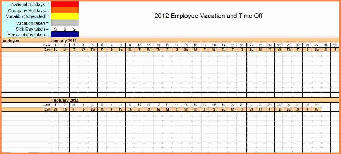 Leave Tracker Excel Template Unique 7 Sick and Vacation Spreadsheet