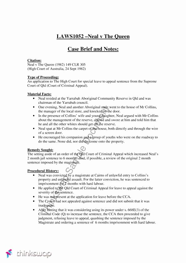 Legal Brief Template Word Awesome Case Brief Template