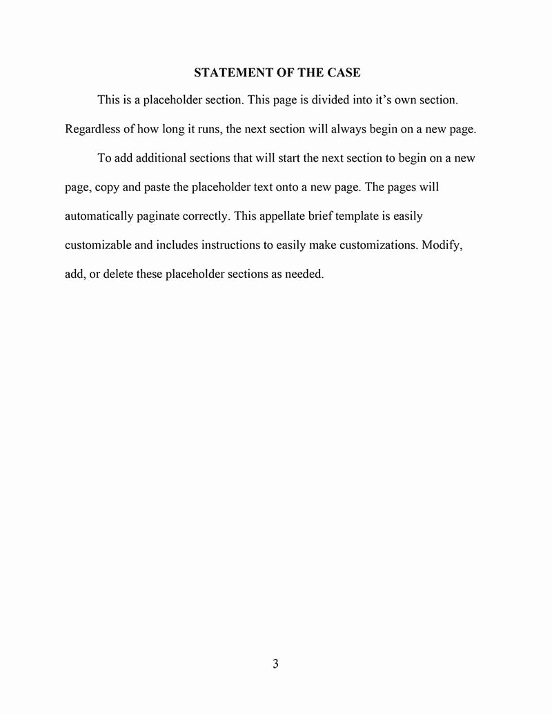 Legal Brief Template Word Beautiful Download An Appellate Brief Template for Word