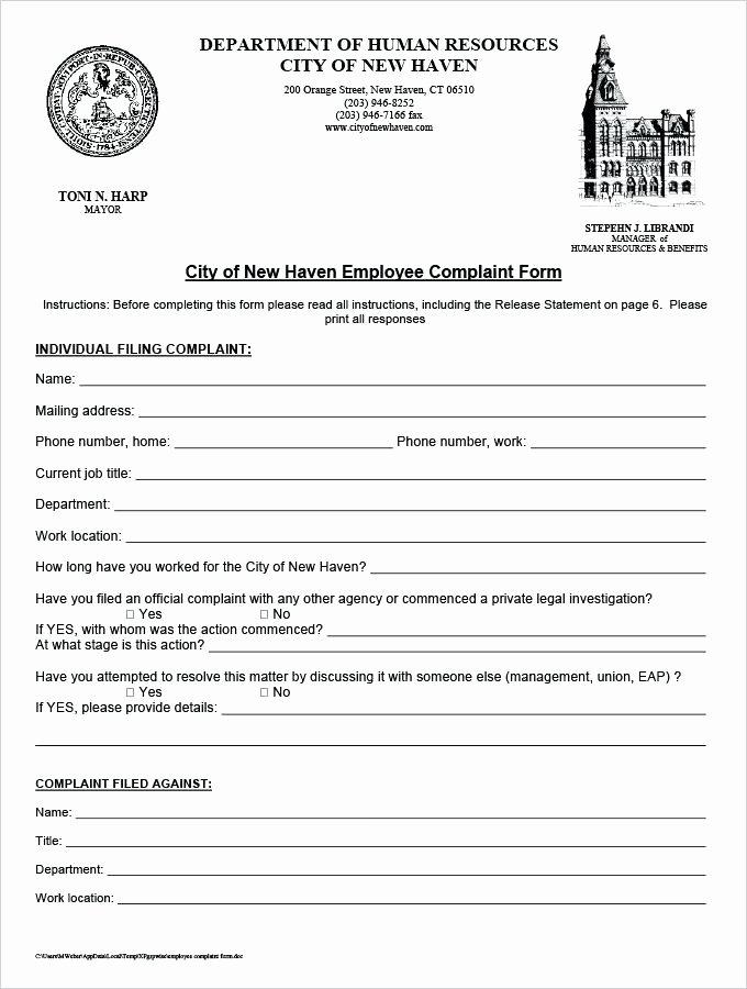 Legal Complaint Template Word Inspirational Legal Plaint form Template Word Employee Department