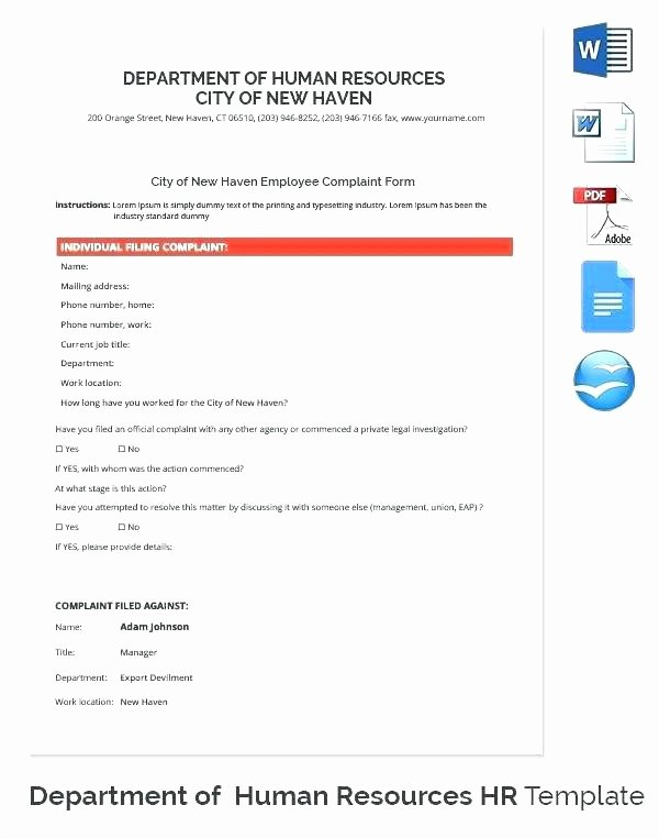 Legal Complaint Template Word Lovely Legal Plaint form Template Word Plaints forms
