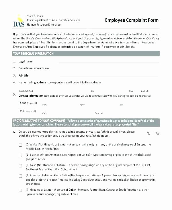 Legal Complaint Template Word New Legal Plaint form Template Example Customer Plaints