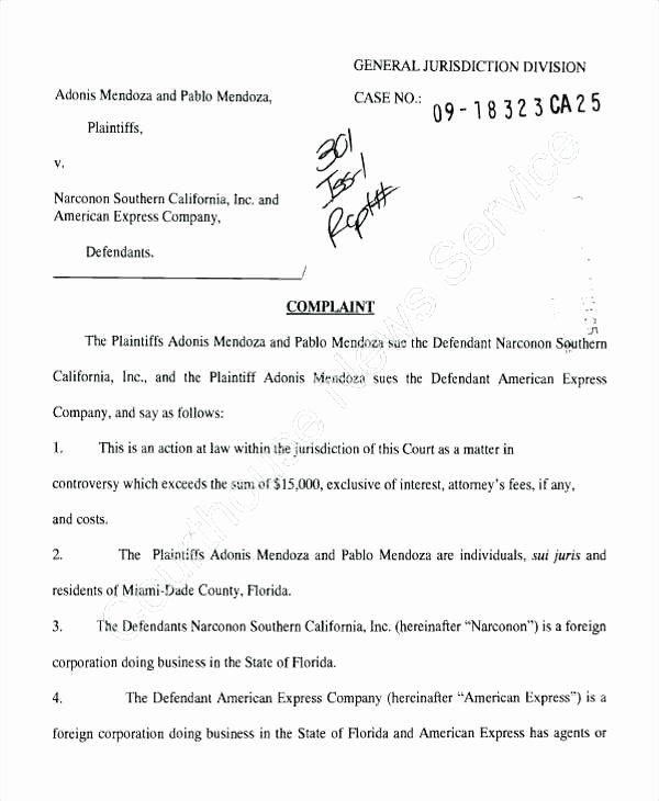 Legal Complaint Template Word Unique Civil Plaint Template – Puebladigital