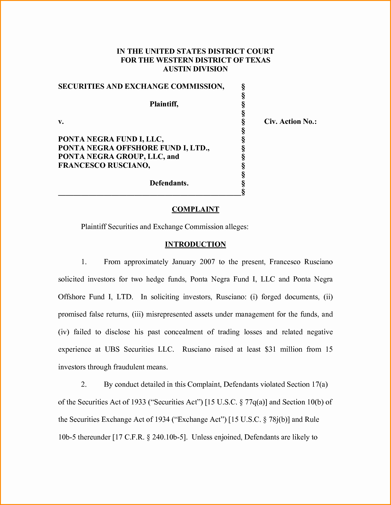 Legal Complaint Template Word Unique Plaint Mail format Doc Free Letter
