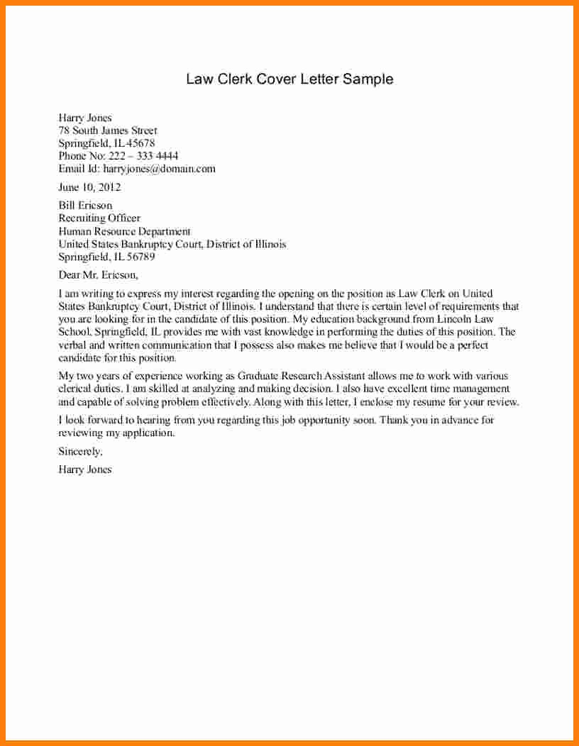 Legal Cover Letter Template New 5 Legal Letter Samples