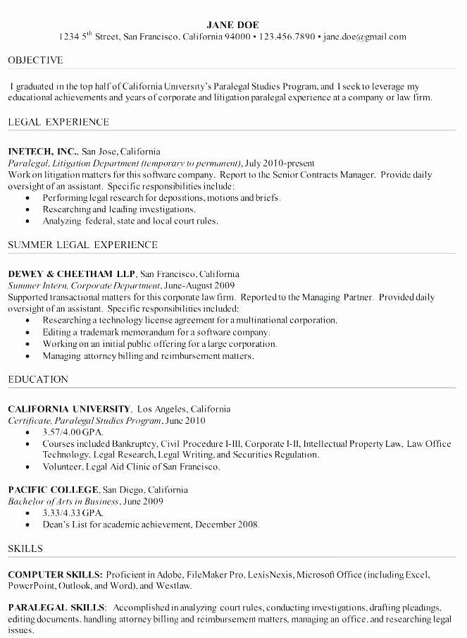 Legal Cover Letter Template Unique Legal assistant Cover Letter Sample Secretary No