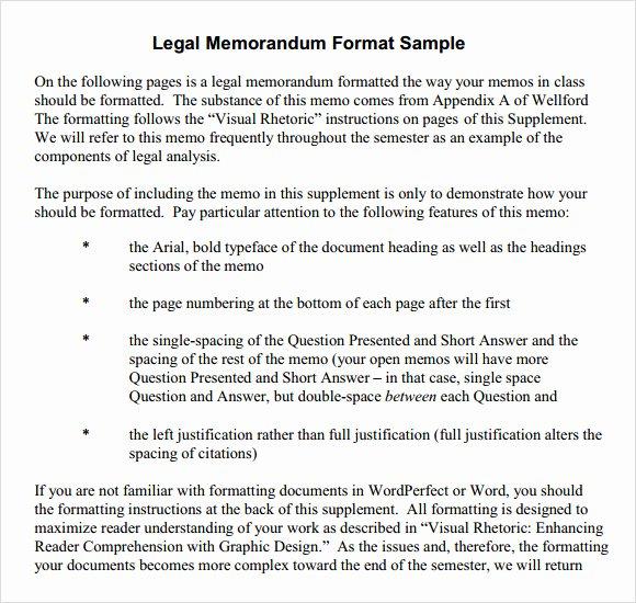 Legal Memorandum Template Word Luxury 6 formal Memorandum Samples