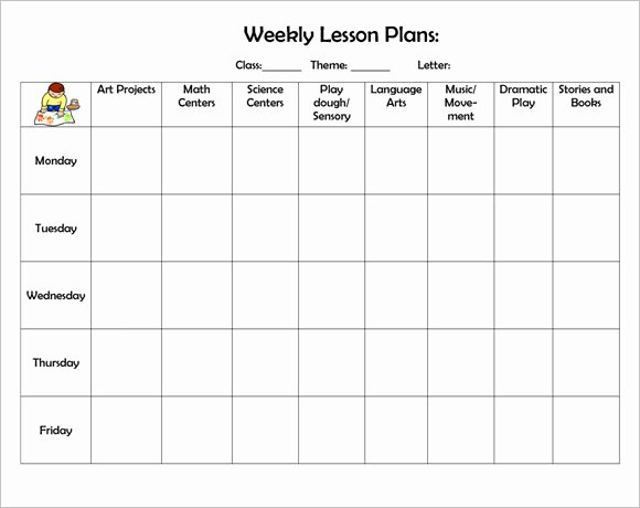 Lesson Plan Calendar Template New High School Weekly Lesson Plan Template Word Middle