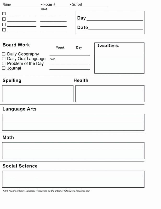 Lesson Plan Template Doc Awesome Daily Lesson Plan Template Word Document – Meicys