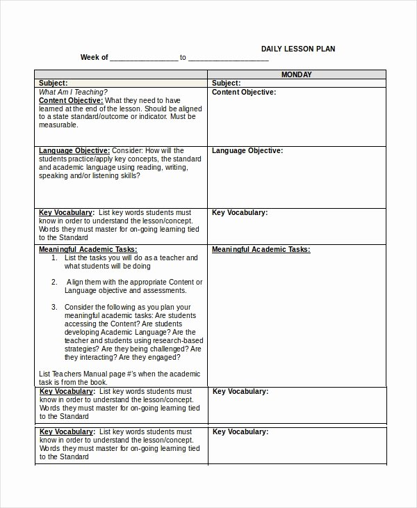 Lesson Plan Template Doc Best Of Lesson Plan Template 14 Free Word Pdf Documents
