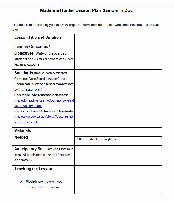 Lesson Plan Template Doc Unique Lesson Plan Template – 43 Free Word Excel Pdf format