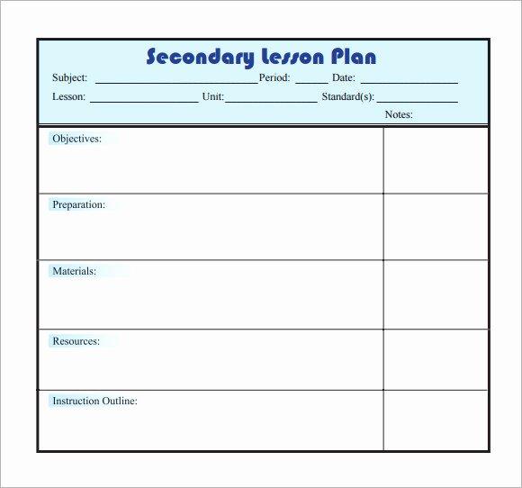 Lesson Plan Template Pdf Elegant 10 Sample Lesson Plans