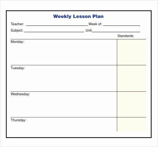 Lesson Plan Template Pdf Luxury 10 Sample Lesson Plans