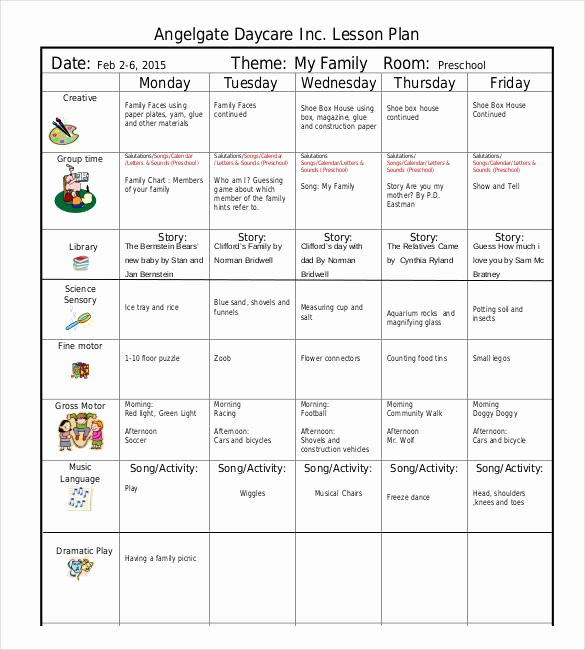 Lesson Plan Template Preschool Awesome 21 Preschool Lesson Plan Templates Doc Pdf Excel