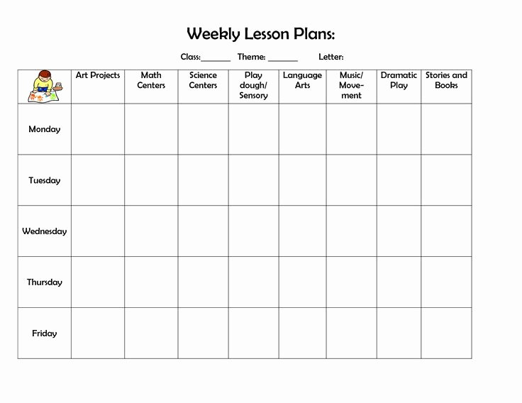 Lesson Plan Template Preschool Awesome 25 Best Ideas About Preschool Lesson Template On