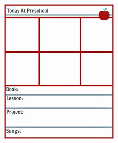 Lesson Plan Template Preschool Awesome Preschool Lesson Planning Template Free Printables No