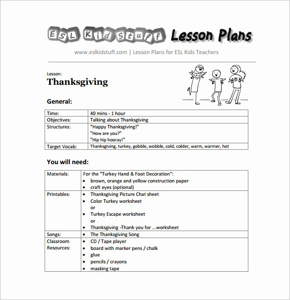 Lesson Plan Template Preschool Elegant Kindergarten Lesson Plan Template 3 Free Word Documents
