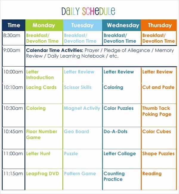 Lesson Plan Template Preschool Luxury Preschool Lesson Plan Template 7 Download Free