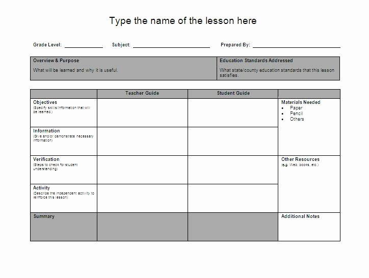 Lesson Plan Template Word Lovely Lesson Plan formats Letters & Maps