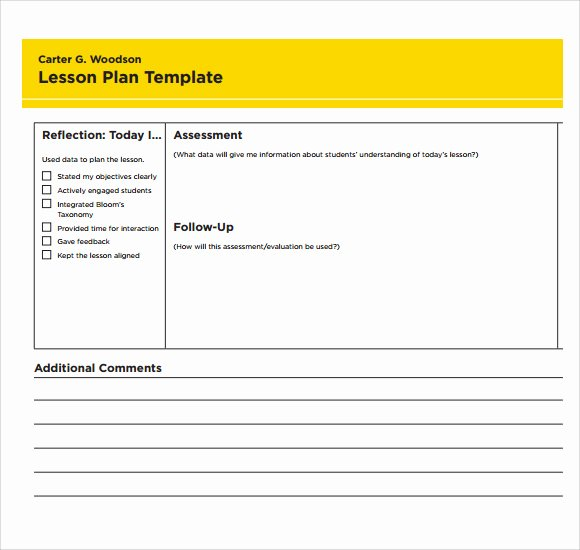 Lesson Plan Template Word Luxury 7 Printable Lesson Plan Templates to Download