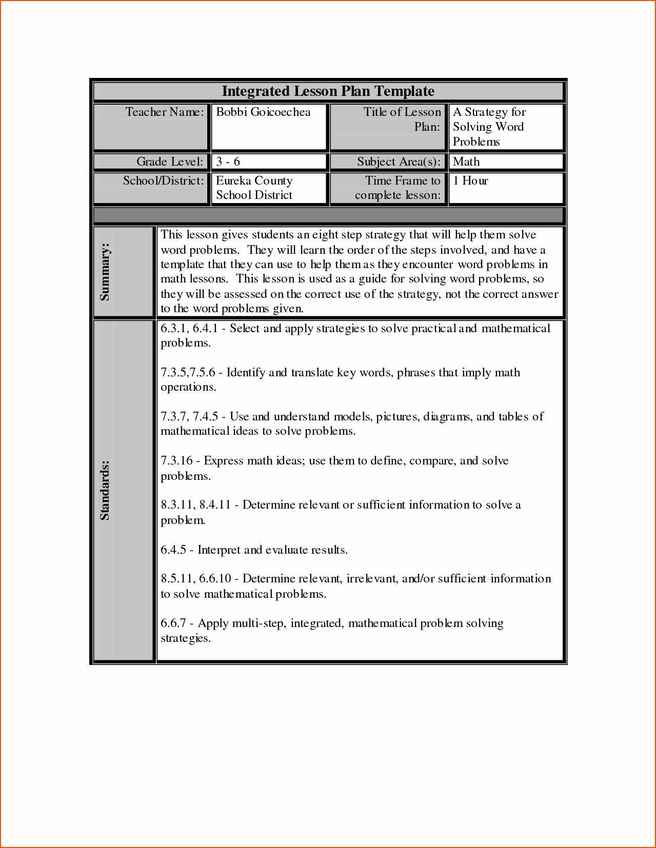 Lesson Plan Template Word New 7 Lesson Plan Template Word Bookletemplate
