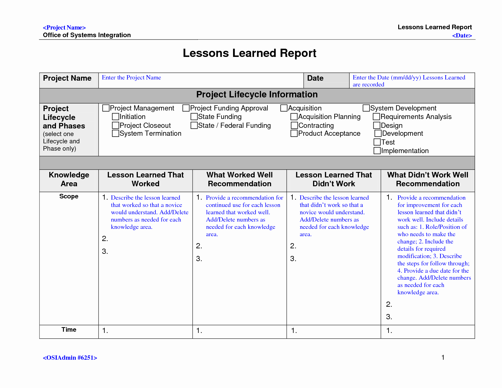 Lessons Learned Template Powerpoint Luxury Lessons Learned Template