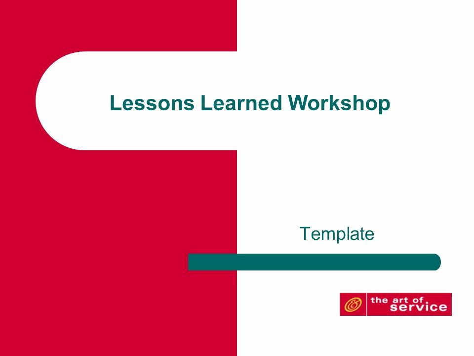 Lessons Learned Template Powerpoint New Lessons Learned Workshop Ppt Video Online