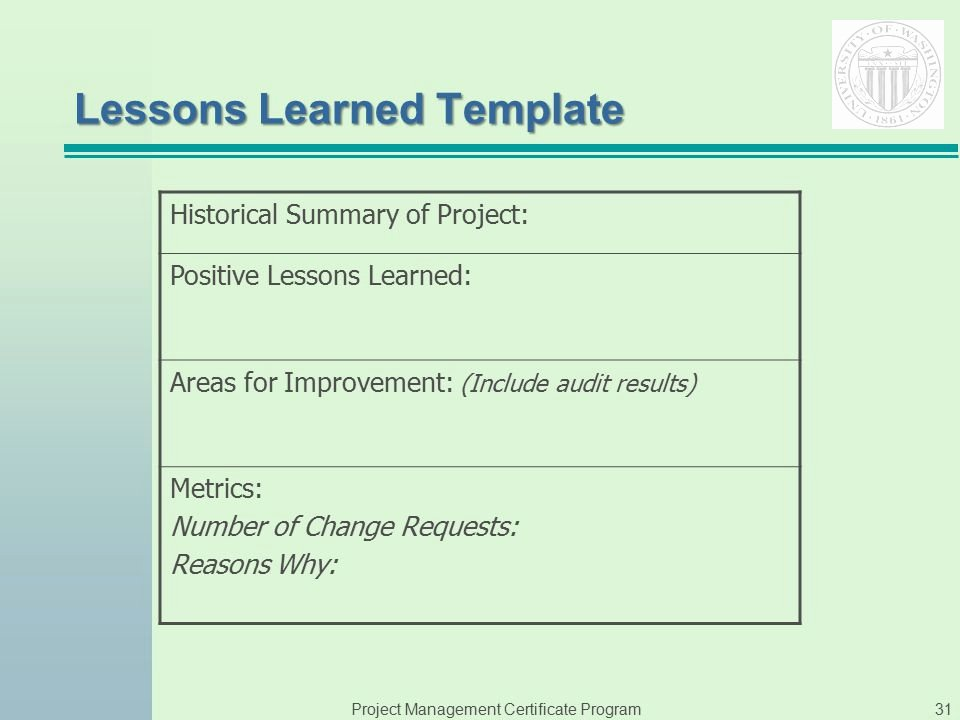 Lessons Learned Template Powerpoint Unique Instructor Phyllis Sweeney Ppt Video Online