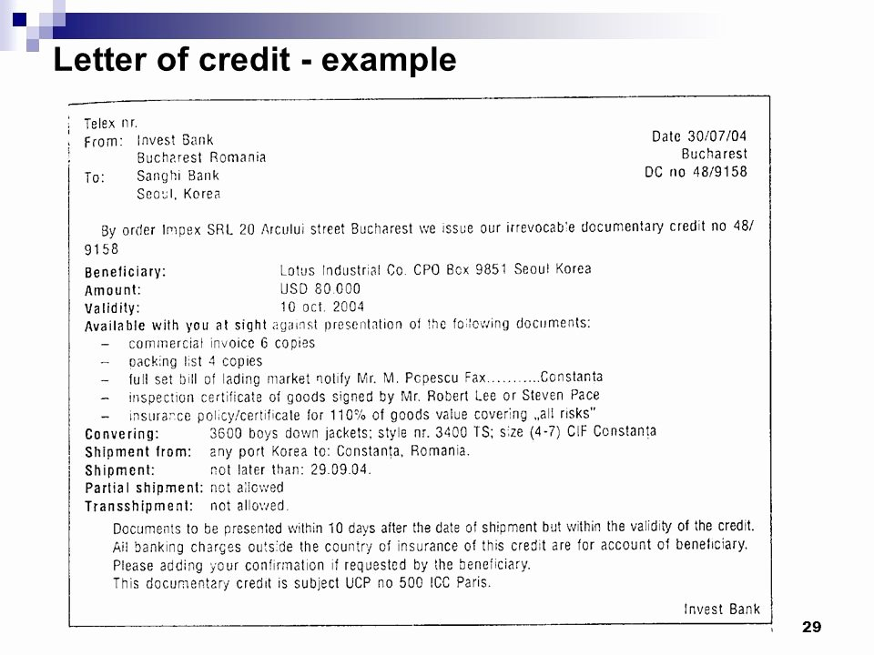"Letter Of Credit Template Unique ""international Finance and Payments"" Ppt Video Online"