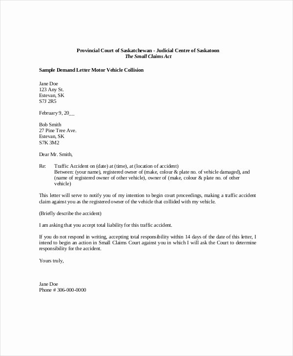 Letter Of Demand Template Best Of Demand Letter Sample 14 Pdf Word Download Documents