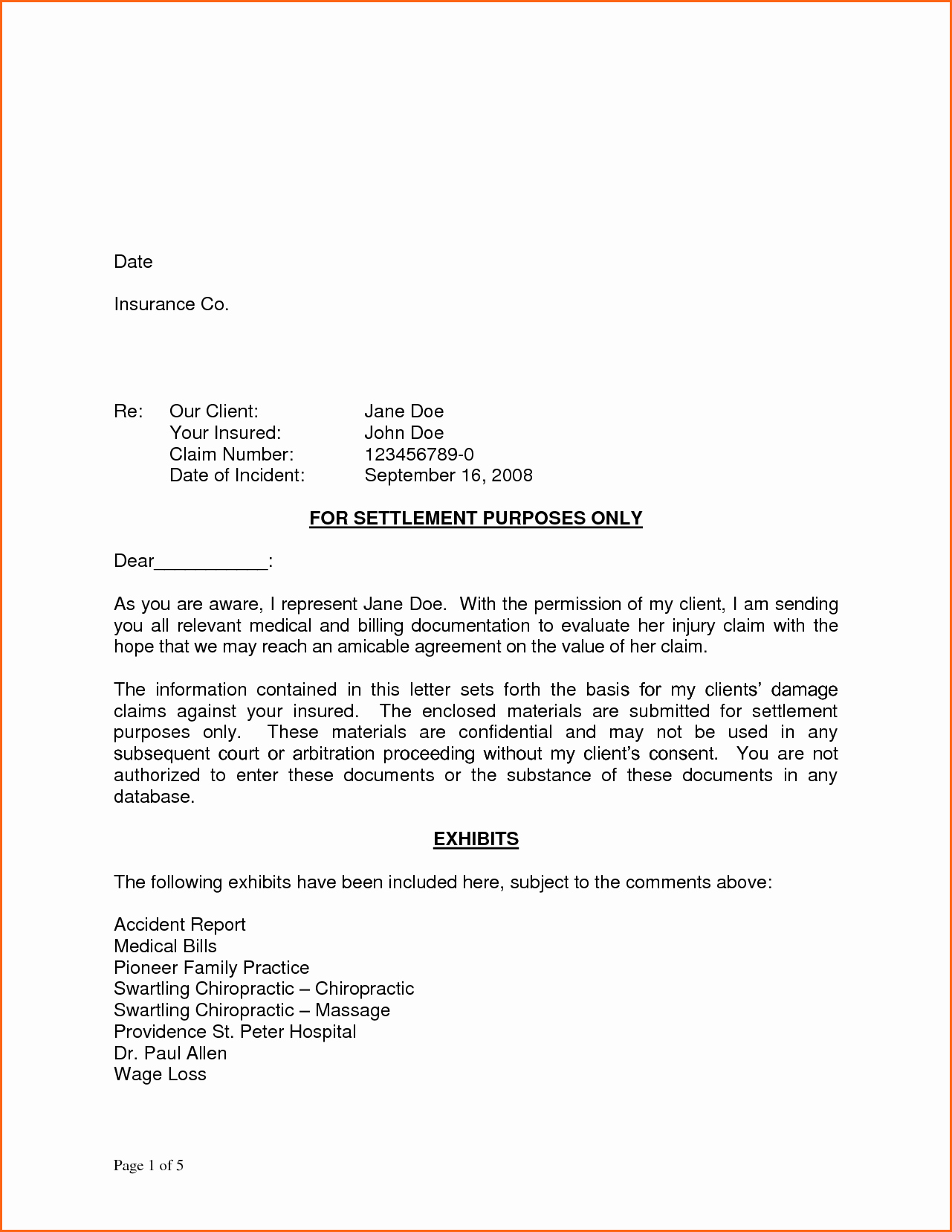 11 demand letter template