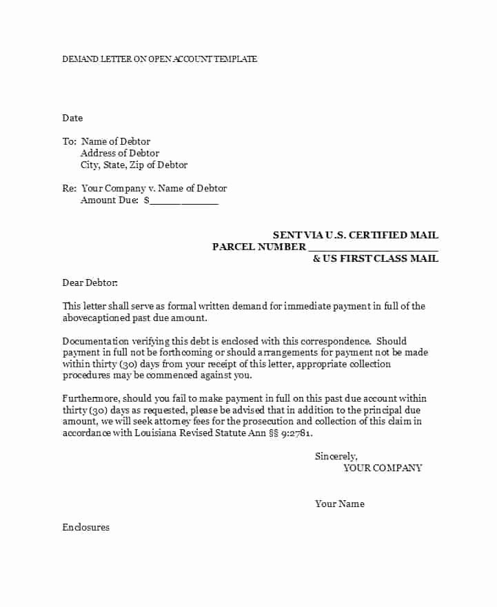 Letter Of Demand Template Luxury Final Demand for Payment Letter Template Free Demand