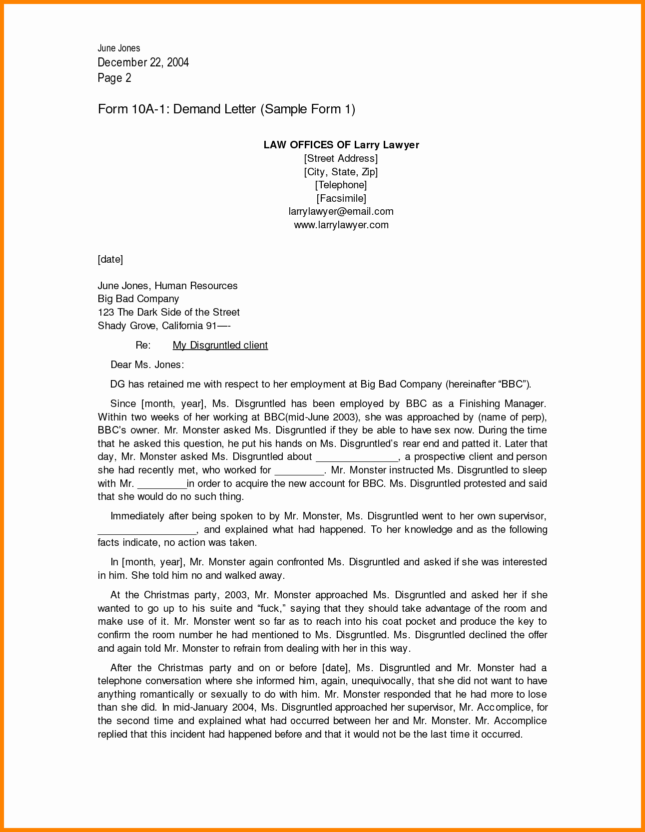 Letter Of Demand Template New 7 Legal Demand Letter format