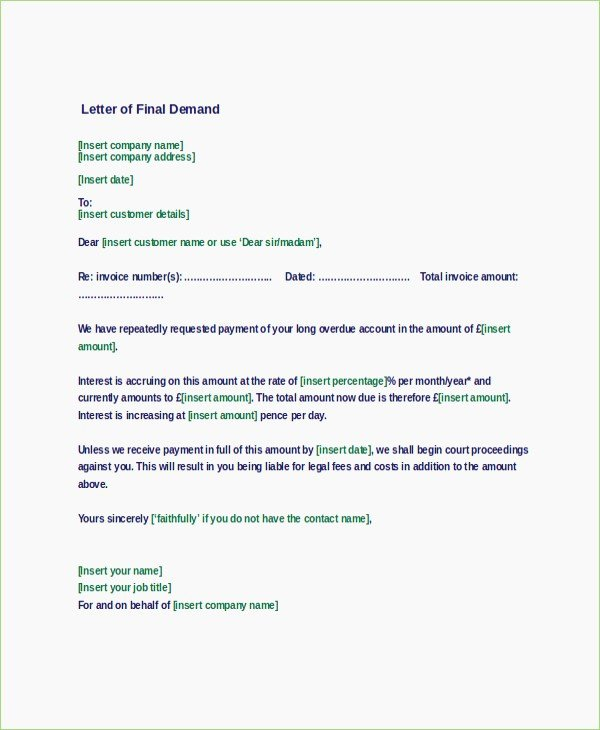 Letter Of Demand Template New Demand Draft Cancellation Letter format – thepizzashop