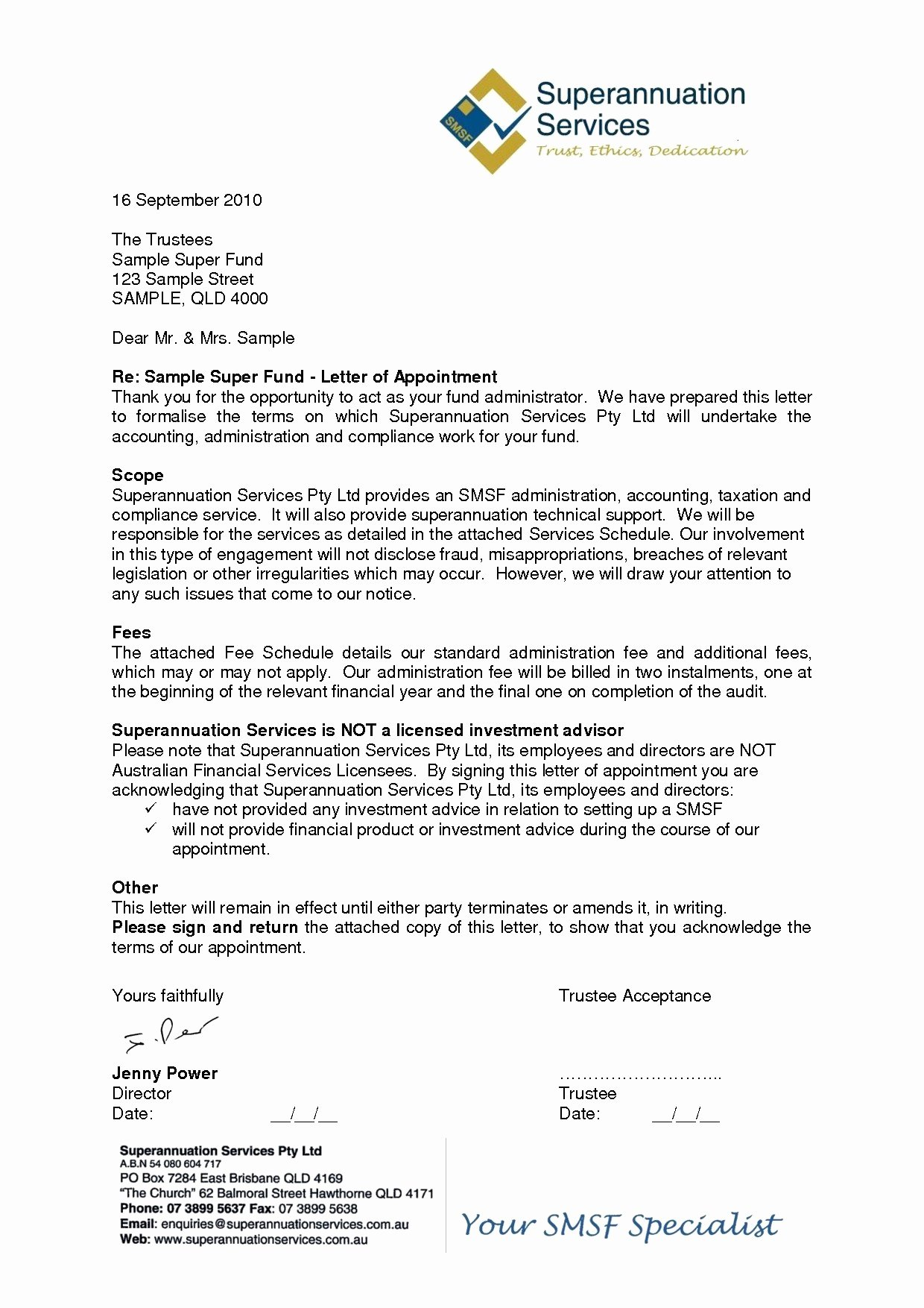 Letter Of Engagement Template Awesome Letter Engagement Template Contractor Examples