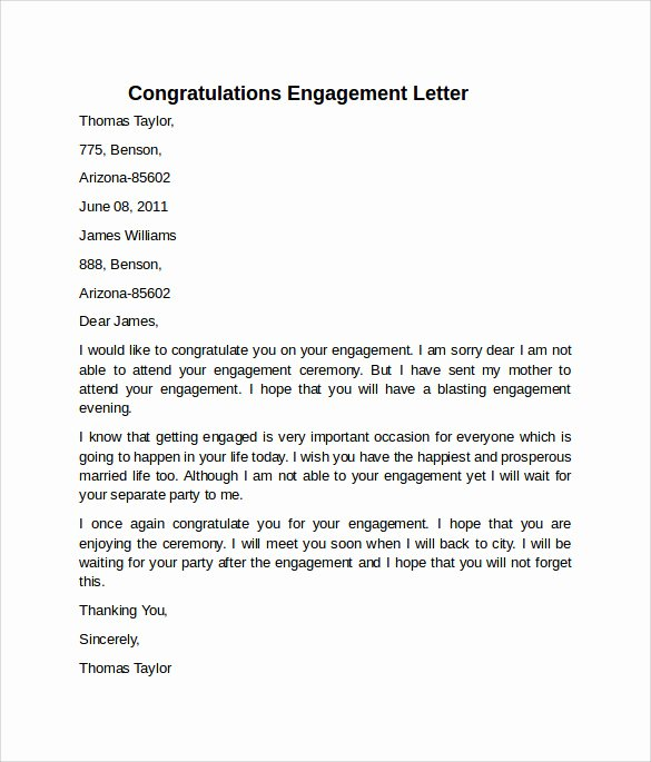 Letter Of Engagement Template Elegant 9 Sample Engagement Letters to Download