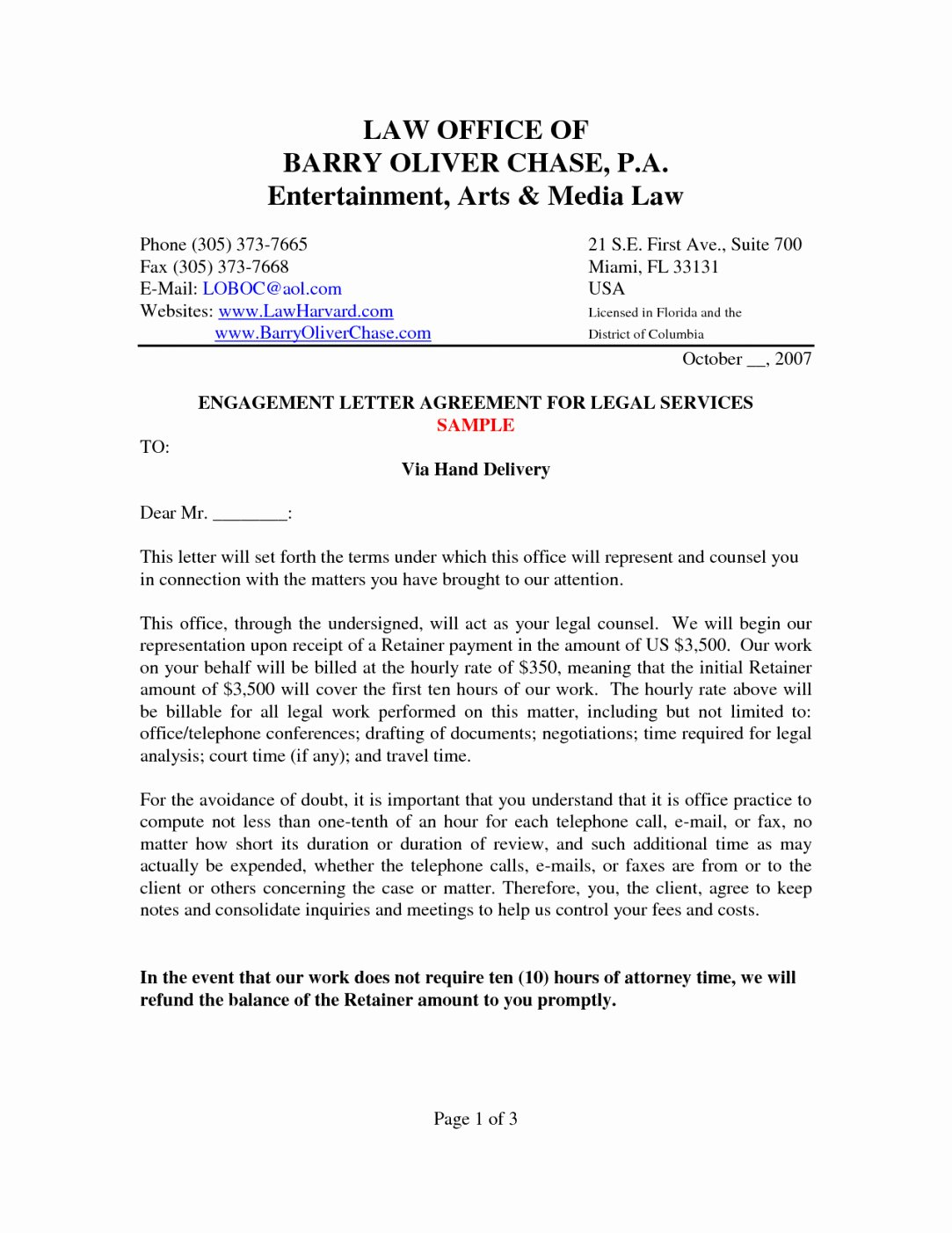 Letter Of Engagement Template Inspirational Engagement Agreement Template