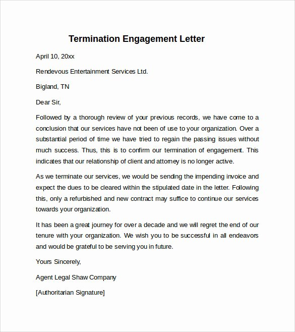 Letter Of Engagement Template Luxury 9 Sample Engagement Letters to Download