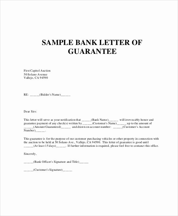 Letter Of Guarantee Template Best Of Request Letter Bank Guarantee Sample Requesting for
