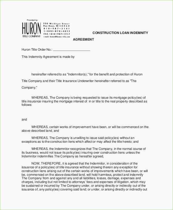 Letter Of Indemnification Template Lovely Letter Indemnity format – thepizzashop