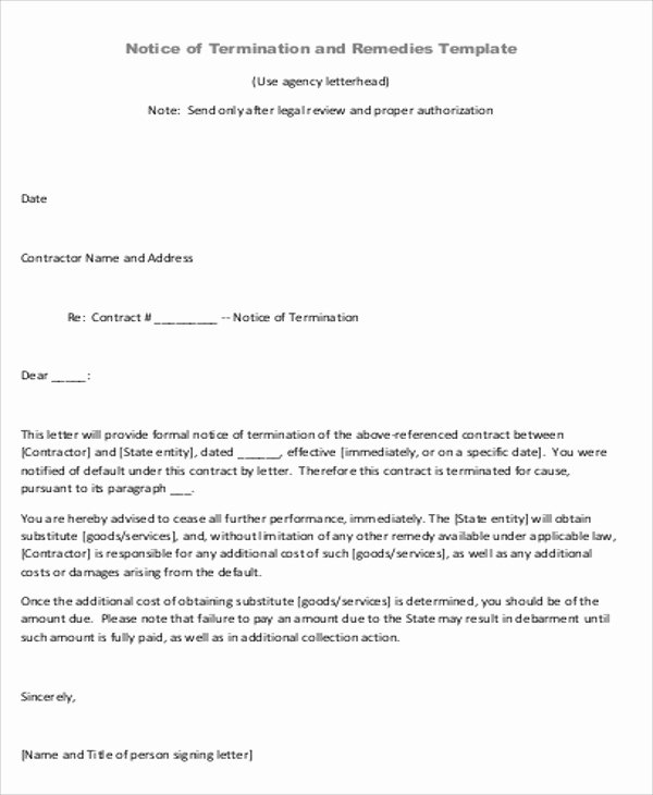 Letter Of Understanding Template Beautiful Sample Contract Agreement Letter 9 Examples In Word Pdf