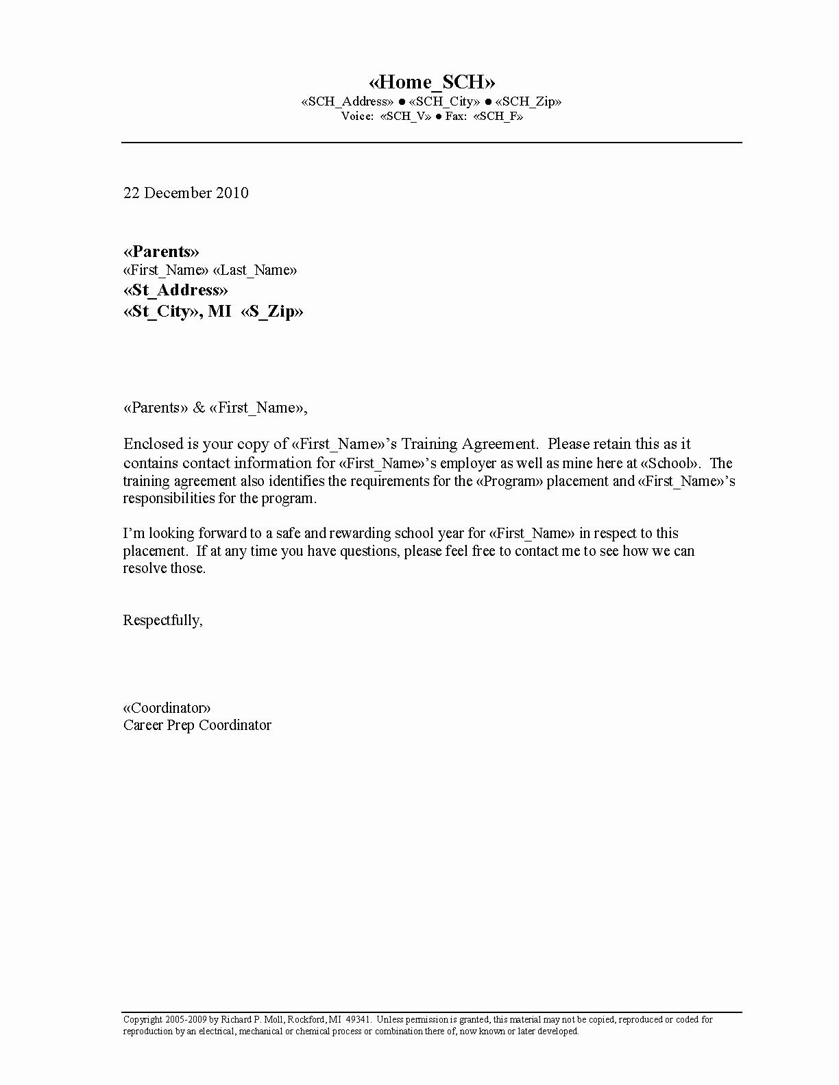 Letter Of Understanding Template Best Of Printable Sample Letter Of Agreement form