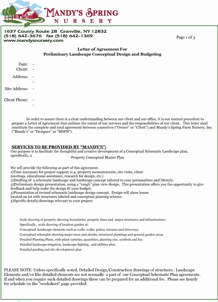 Letter Of Understanding Template Lovely Letter Of Agreement Design