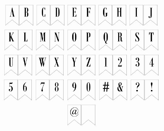 Letter Template for Banners Awesome Free Printable Banner Letters