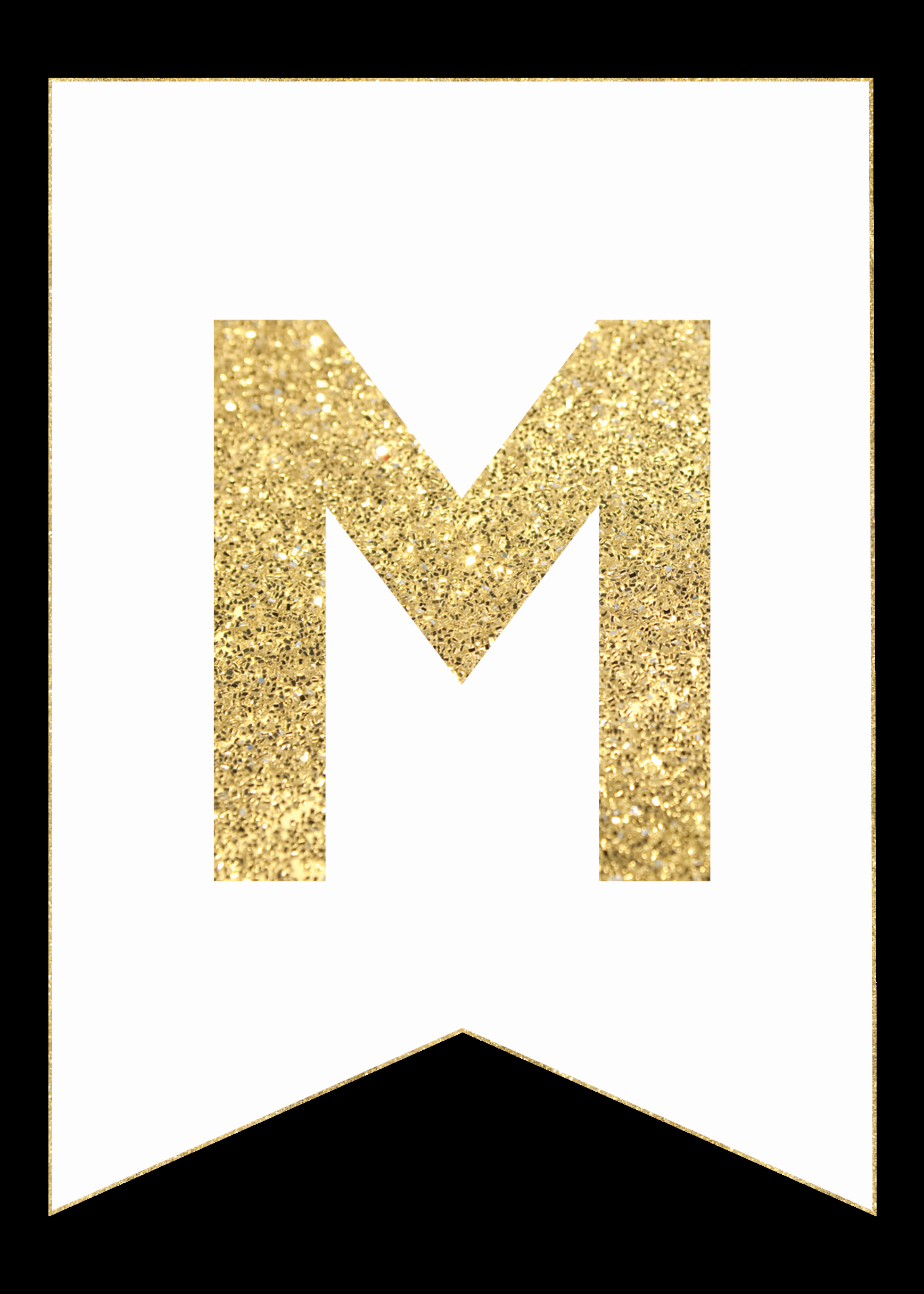 Letter Template for Banners Awesome Gold Free Printable Banner Letters Paper Trail Design