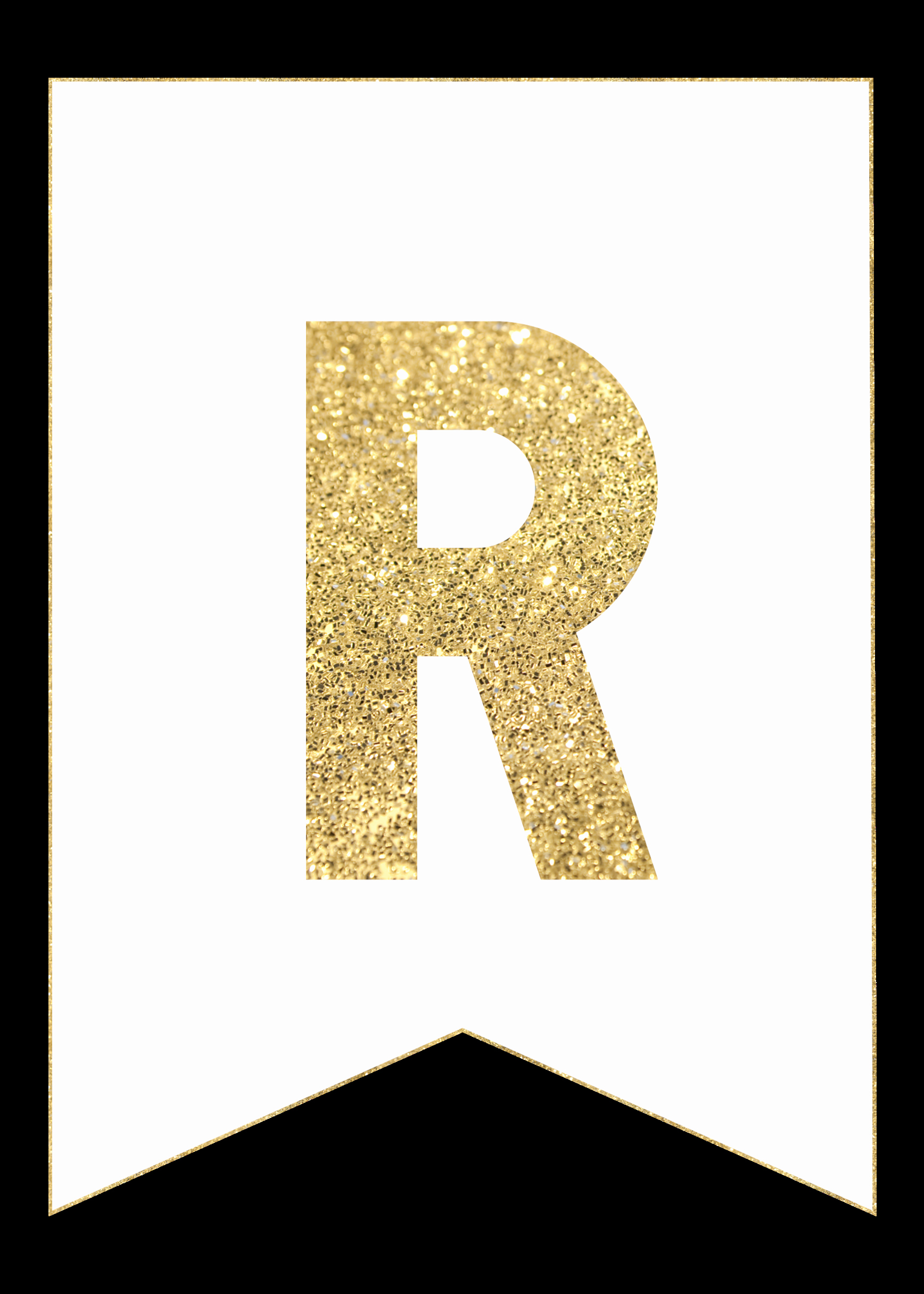 Letter Template for Banners Beautiful Gold Free Printable Banner Letters Paper Trail Design