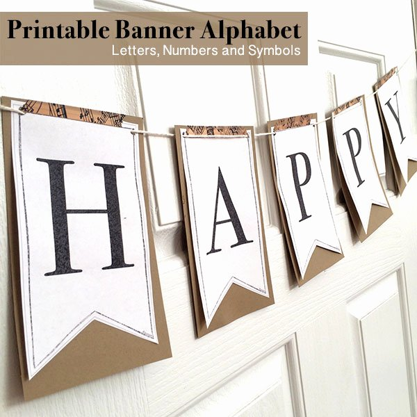 Letter Template for Banners Beautiful Printable Full Alphabet for Banners the Country Chic Cottage